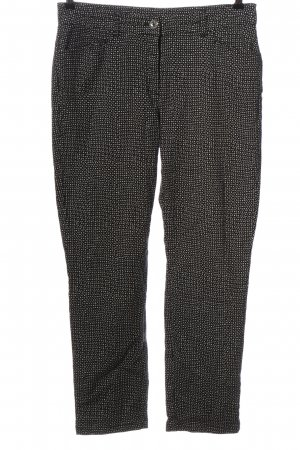 Bonita Jersey Pants black-white abstract pattern casual look