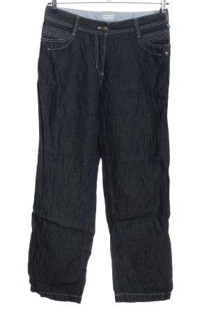 Bonita Jeansy z prostymi nogawkami niebieski W stylu casual