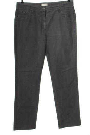 Bonita Jeans a gamba dritta blu puntinato stile casual