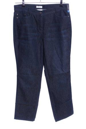 Bonita Stretchhose blau Streifenmuster Casual-Look