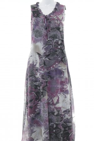 Bonita Stretchkleid schwarz-lila abstraktes Muster Casual-Look