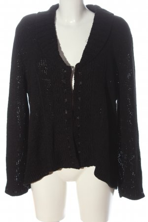 Bonita Knitted Cardigan black casual look