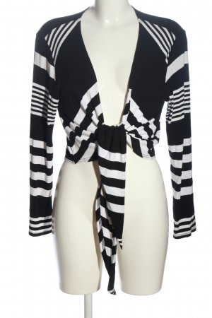 Bonita Strick Cardigan schwarz-weiß Streifenmuster Casual-Look