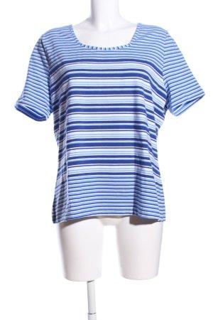 Bonita T-Shirt blau-weiß Allover-Druck Casual-Look
