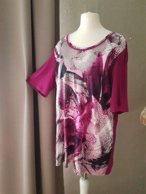 Bonita Basic Shirt magenta-raspberry-red viscose