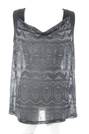 Bonita Tanktop schwarz-hellgrau abstraktes Muster Street-Fashion-Look