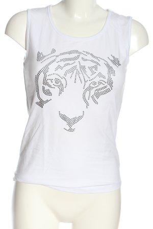 Bonita Tanktop wit prints met een thema casual uitstraling