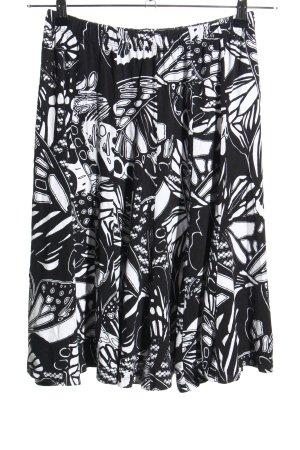 Bonita Tellerrock schwarz-weiß Motivdruck Casual-Look
