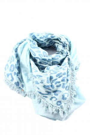 Bonita Traditional Scarf blue-white abstract pattern casual look