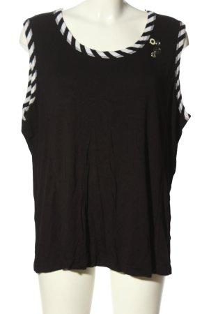 Bonita Top met spaghettibandjes zwart-wit gestreept patroon casual uitstraling