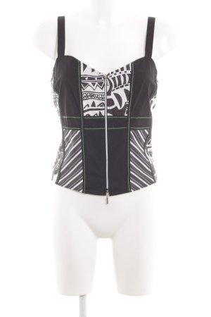 Bonita Trägertop schwarz-weiß grafisches Muster Street-Fashion-Look