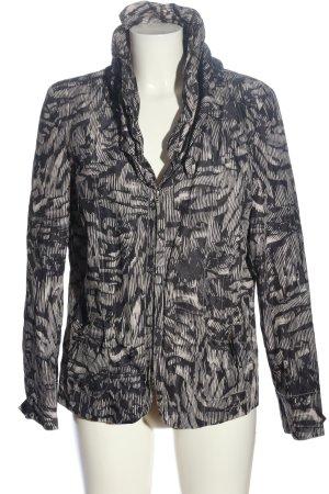 Bonita Kurtka przejściowa czarny-w kolorze białej wełny Abstrakcyjny wzór