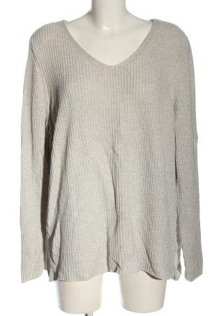 Bonita V-Neck Sweater light grey casual look