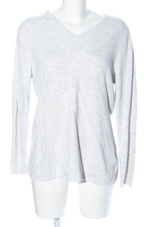 Bonita V-Ausschnitt-Pullover weiß Casual-Look