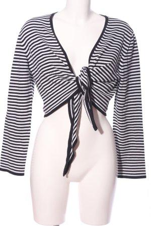 Bonita Bolero nero-bianco motivo a righe stile casual