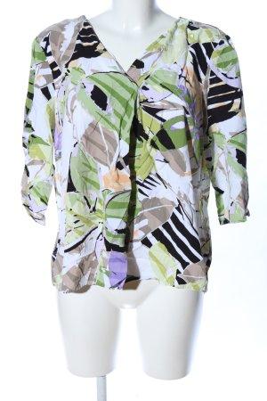 Bonita V-Ausschnitt-Shirt abstraktes Muster Casual-Look
