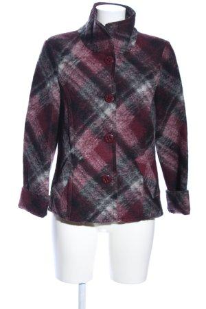 Bonita Blazer en laine rouge-noir imprimé allover style d'affaires