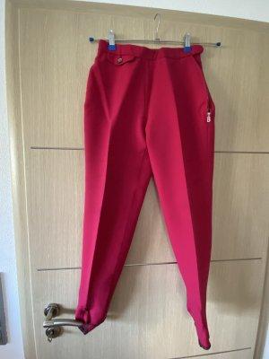Bogner Pantalón con estribo rojo frambuesa
