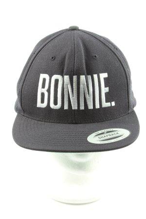 Bonnie Baseballpet zwart geborduurde letters casual uitstraling