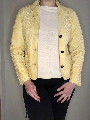 Bonnie Leren jack geel-sleutelbloem Leer
