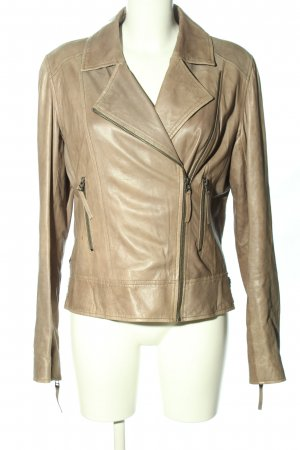 Bonnie Leather Jacket brown casual look