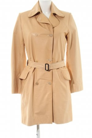 Bonnie Leather Coat natural white business style