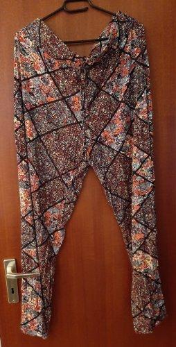 bpc bonprix collection Spodnie materiałowe Wielokolorowy Wiskoza