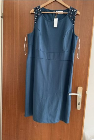 Bonbrix Robe fourreau bleu pétrole