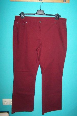 bpc bonprix collection Spodnie ze stretchu ciemnoczerwony Bawełna