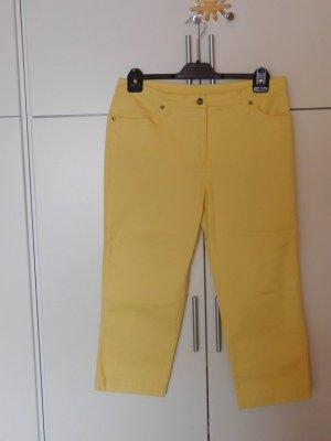b.p.c. Bonprix Collection Pantalone a 3/4 giallo Cotone