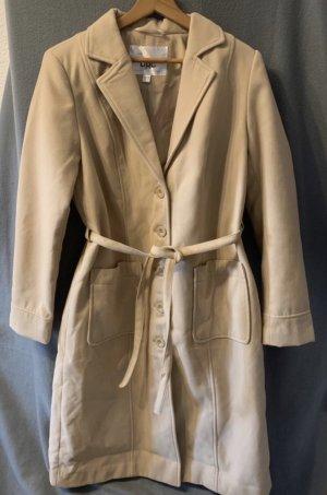 Bonprix Parker Mantel Trenchcoat beige Creme flauschig L 40 neu