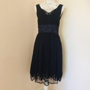 ❤️BONPRIX❤️ schickes edles Kleid festlich Gr. 36 dunkelblau wNEU