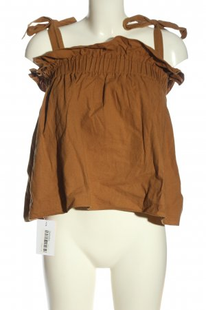 Bonsui Linen Blouse brown casual look