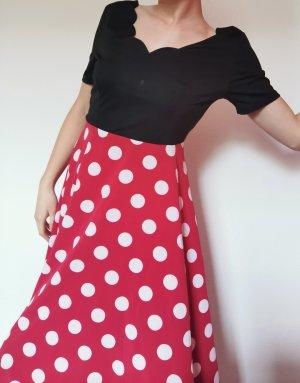 Boogie Woogie Rockabilly Polka Kleid gepunktet rot schwarz rückenfrei