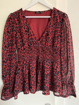 Boohoo Long Sleeve Blouse multicolored