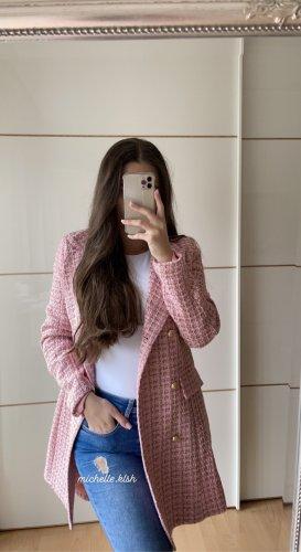 Boohoo Tweed Blazer pink-gold-colored