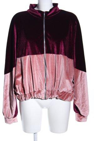 Boohoo Blouson rosa-rosso motivo a righe stile casual