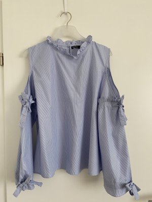 Boohoo Bluse Cut Outs blau 42 neu