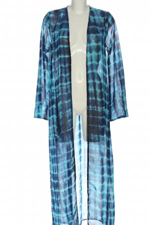 Boohoo Blouse Jacket blue abstract pattern casual look