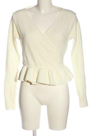 Boohoo Maglietta aderente bianco sporco stile casual