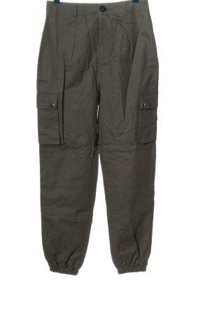 Boohoo Pantalon cargo kaki style décontracté