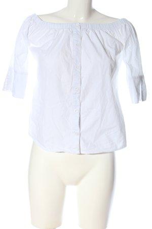 Boohoo Blusa alla Carmen bianco stile casual