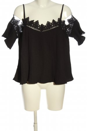 Boohoo Carmen-Bluse schwarz Elegant