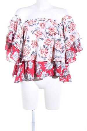 Boohoo Carmen-Bluse Blumenmuster Elegant