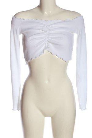 Boohoo Top épaules dénudées blanc élégant