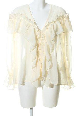 Boohoo Carmenshirt creme Elegant