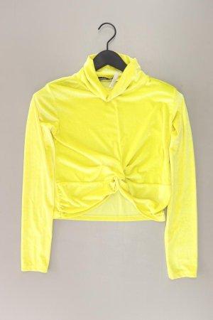 Boohoo Camicia cropped giallo-giallo neon-giallo lime-giallo scuro Poliestere
