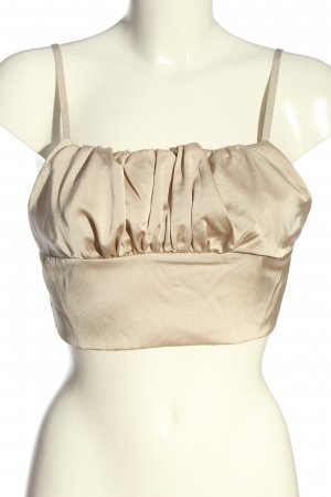 Boohoo Cropped Top creme Casual-Look