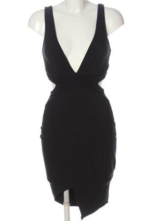 Boohoo Vestido cut out negro elegante