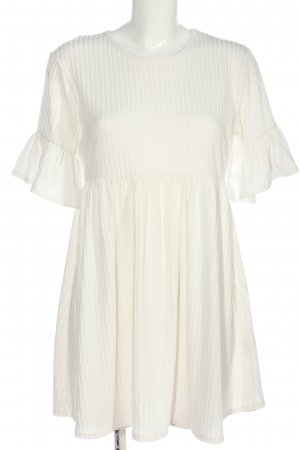 Boohoo Empire Dress white striped pattern casual look
